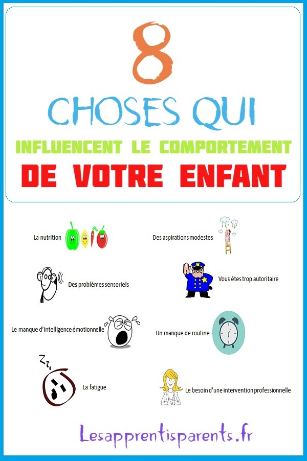8 choses qui influencent le comportement de votre enfant