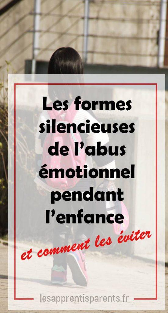 abus émotionnel de l'enfant