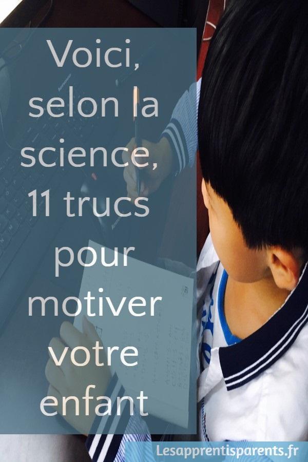 Voici, selon la science, 11 trucs pour motiver votre enfant