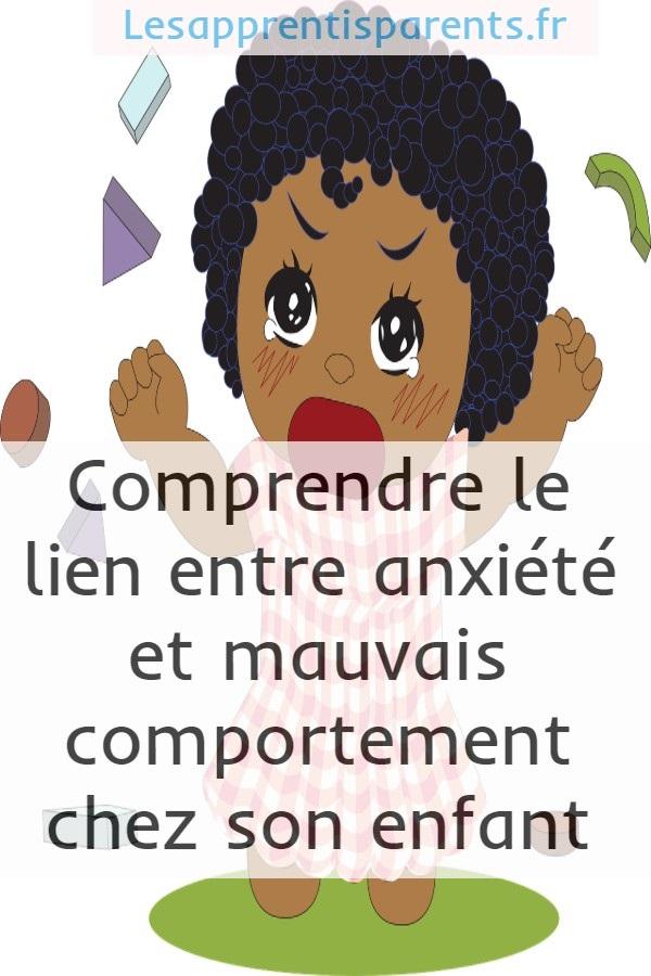 Comprendre le lien entre anxiété et mauvais comportement chez son enfant