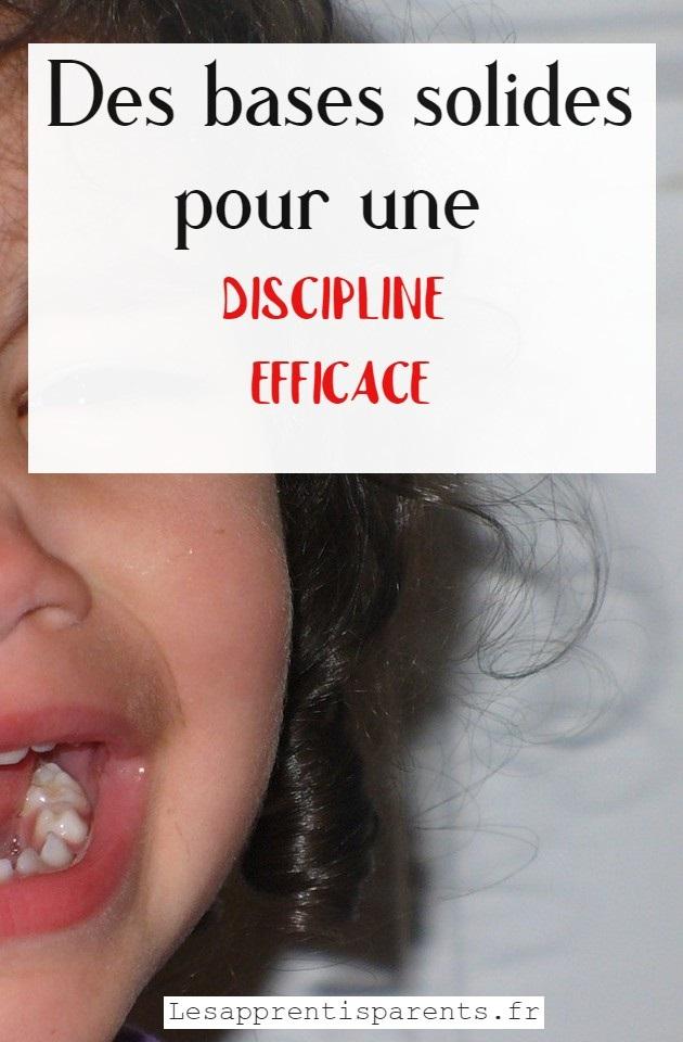 Des bases solides pour une discipline efficace