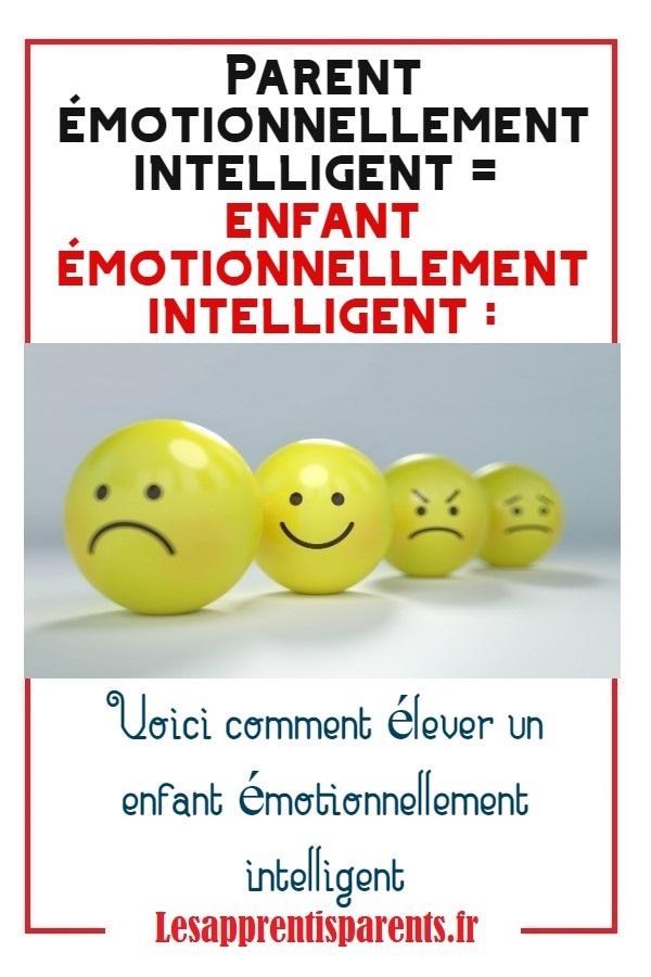 élever un enfant émotionnellement intelligent
