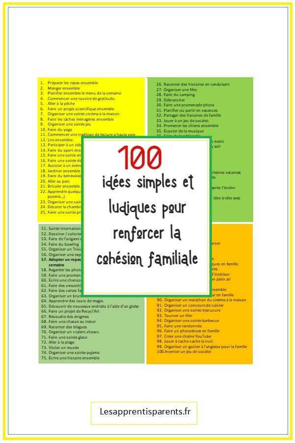 100 idées pour construire de bonnes relations familiales